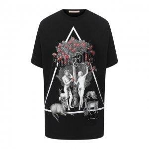 Хлопковая футболка Christopher Kane. Цвет: чёрный