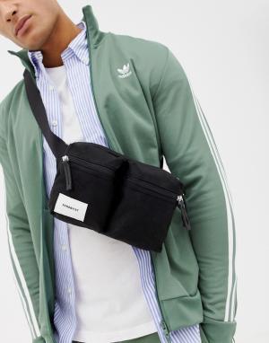 Черная сумка-кошелек на пояс Paul Sandqvist. Цвет: черный