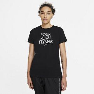 "Женская баскетбольная футболка Nike Dri-FIT ""Royal Flyness"" - Черный"