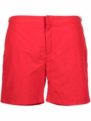 Плавки-шорты Bulldog с потайной застежкой Orlebar Brown. Цвет: красный
