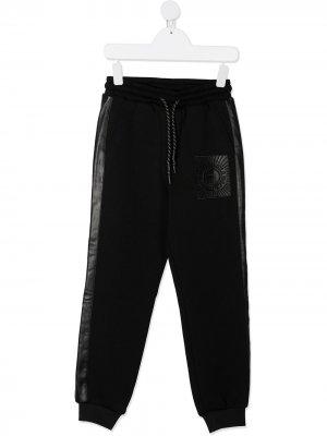 Спортивные брюки с кулиской и логотипом John Richmond Junior. Цвет: черный
