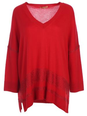 Шерстяной пуловер ERMANNO SCERVINO. Цвет: красный