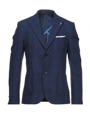 Пиджак GREY DANIELE ALESSANDRINI. Цвет: синий