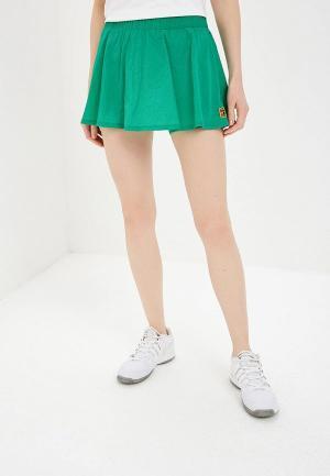 Юбка-шорты Nike COURT DRI-FIT FLEX WOMENS SKIRT. Цвет: зеленый