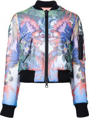 Куртка-бомбер с попугаями Dsquared2. Цвет: многоцветный