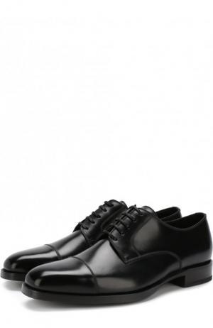Кожаные дерби на шнуровке Tom Ford. Цвет: чёрный