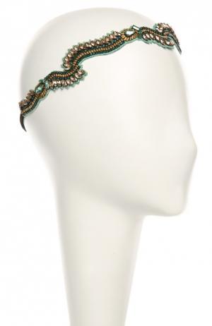 Повязка для волос Deepa Gurnani. Цвет: зеленый