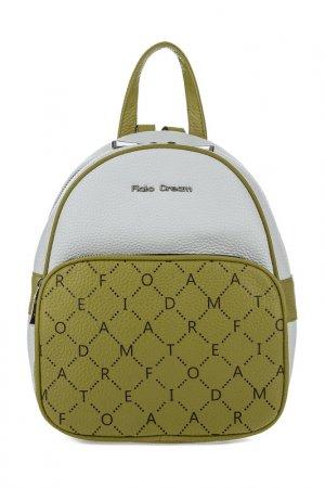 Рюкзак женский Fiato Dream. Цвет: молочный, зеленый виноград