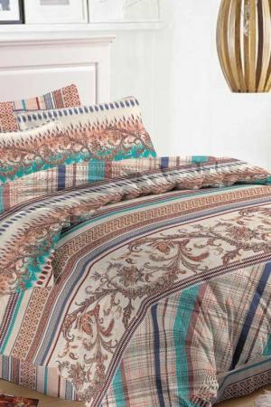 Постельное белье ЕВРО, 70х70 Fantasy. Цвет: бежевый, коричневый