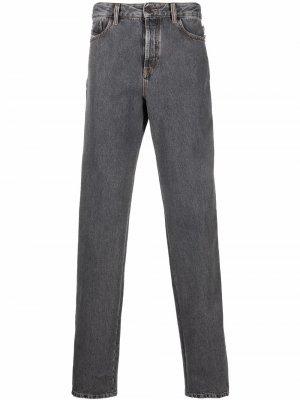 Широкие джинсы с лампасами Diesel. Цвет: серый