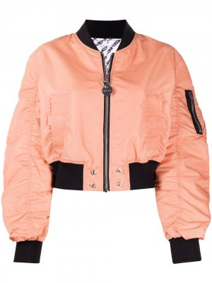 Двусторонняя укороченная куртка-бомбер Diesel. Цвет: розовый