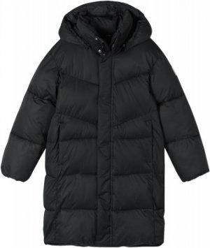 Пальто утепленное для мальчиков Vaanila, размер 158 Reima. Цвет: черный