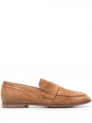 Лоферы с квадратным носком MOMA. Цвет: коричневый