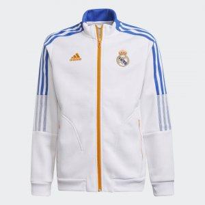 Гимновая куртка Реал Мадрид Tiro Performance adidas. Цвет: белый