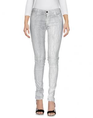 Джинсовые брюки 75 FAUBOURG. Цвет: светло-серый