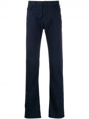 Классические брюки чинос Emporio Armani. Цвет: синий