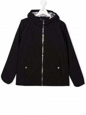 Легкая куртка с капюшоном Ciesse Piumini Junior. Цвет: черный