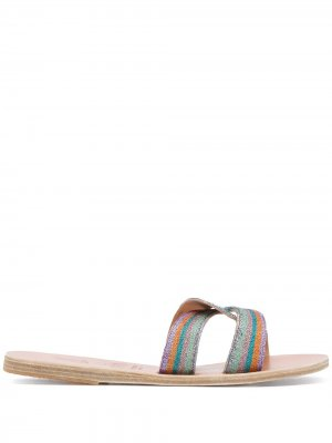 Сандалии Desmos с вышивкой Ancient Greek Sandals. Цвет: синий