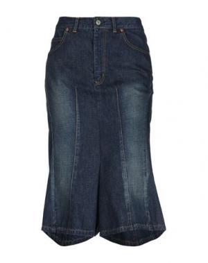 Джинсовые брюки-капри JUNYA WATANABE COMME des GARÇONS. Цвет: синий