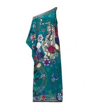 Длинное платье CAMILLA. Цвет: цвет морской волны