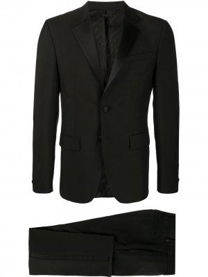 Костюм с контрастными лацканами Givenchy. Цвет: черный