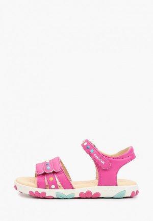 Сандалии Geox. Цвет: розовый