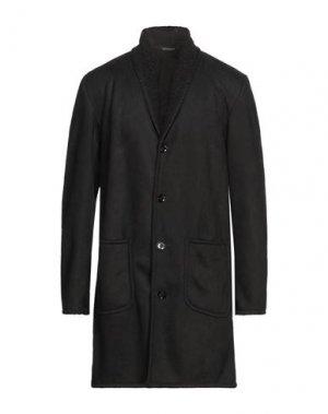 Пальто DANIELE ALESSANDRINI. Цвет: черный