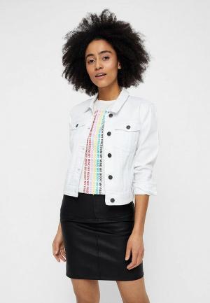 Куртка джинсовая Noisy May. Цвет: белый