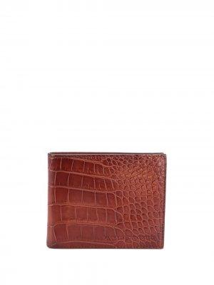 Бумажник с тиснением под крокодила Brunello Cucinelli. Цвет: коричневый