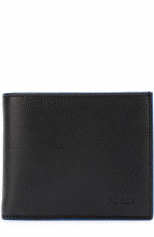 Кожаное портмоне с отделениями для кредитных карт и монет Furla. Цвет: черный
