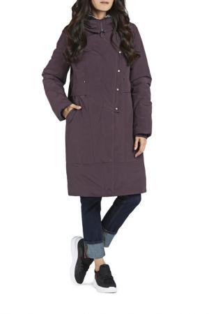 Пальто D`imma. Цвет: баклажановый