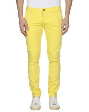 Повседневные брюки EXCLUSIVE. Цвет: желтый