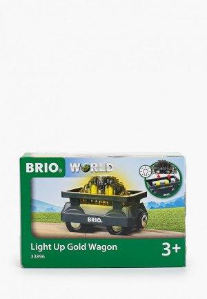 Игрушка Brio Вагончик с светящимся грузом золота. Цвет: черный