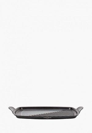 Сковорода Moneta -гриль, FUOCO, прямоугольный, 35x25 см. Цвет: черный