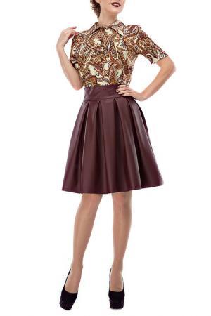 Блузка LEBBEL. Цвет: коричневый