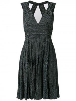 Трикотажное платье с V-образным вырезом Antonino Valenti. Цвет: черный
