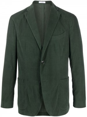 Вельветовый пиджак K-Jacket узкого кроя Boglioli. Цвет: зеленый