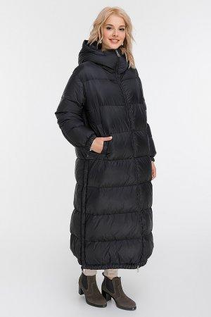 Модный молодежный длинный пуховик из Италии AFG. Цвет: черный