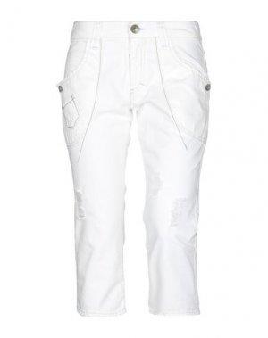 Джинсовые брюки-капри TOY G.. Цвет: белый
