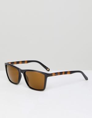 Черные квадратные солнцезащитные очки tb1456 012 Ted Baker. Цвет: черный