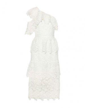 Платье длиной 3/4 JOIE. Цвет: белый