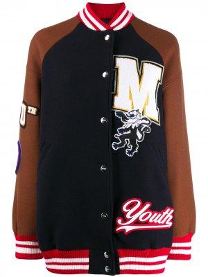 Куртка-бомбер College MSGM. Цвет: синий