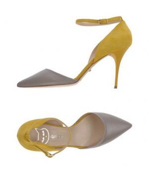 Туфли DEL GATTO. Цвет: голубиный серый