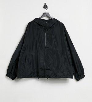 Черный бомбер-дождевик Curve-Черный цвет ASOS DESIGN