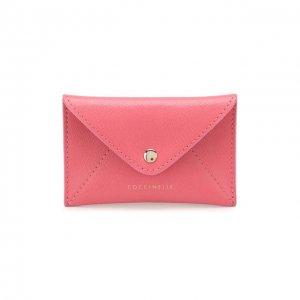 Кожаный футляр для кредитных карт Coccinelle. Цвет: розовый