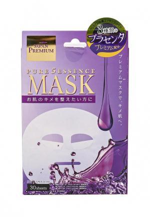 Набор масок для лица Japan Gals c тремя видами плаценты, 30 шт