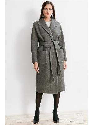 Пальто La vida rica. Цвет: серый