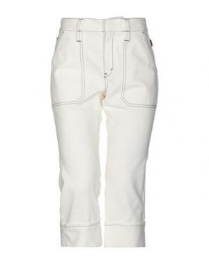 Джинсовые брюки-капри CHLOÉ. Цвет: белый