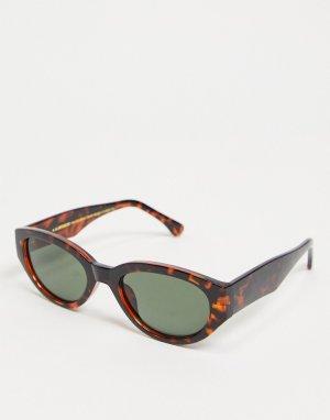 Круглые солнцезащитные очки унисекс расцветки «шершень» в стиле ретро Winnie-Коричневый цвет A.Kjaerbede