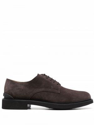Tods almond-toe lace-up Derby shoes Tod's. Цвет: коричневый